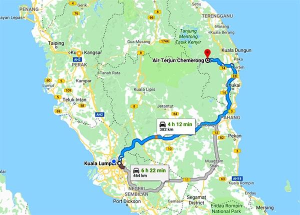 Map to Chemerong CBL Terengganu