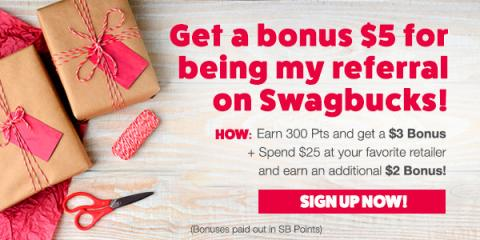 Image: Get $5 When You Sign Up For Swagbucks in December!