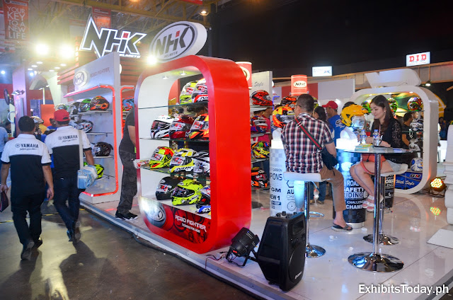 NHK Helmets Exhibition Stand (side shot)