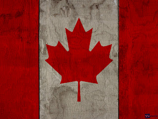 Canada Flag on Wooden Texture Design HD Wallpaper