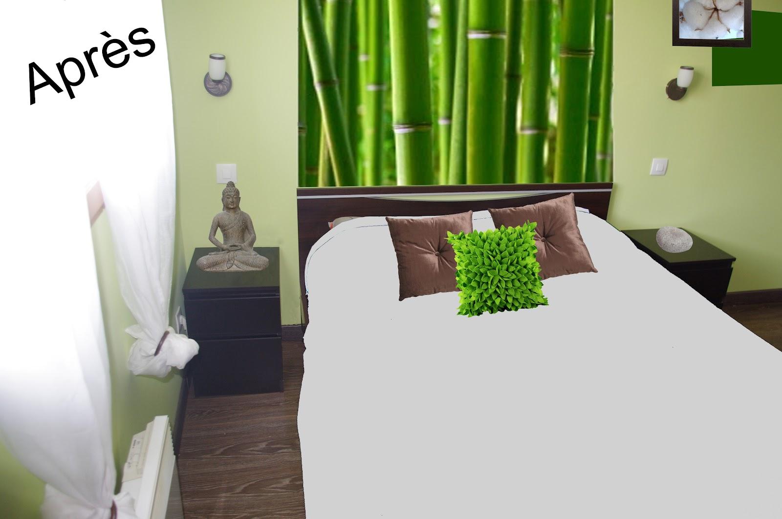 deco murale chambre design chambre zen fleur de lys et. Black Bedroom Furniture Sets. Home Design Ideas