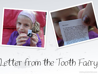 Letter from Tooth Fairy Little Letter Little Mailbox