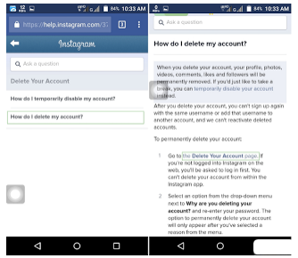 How To Deactivate Instagram Account