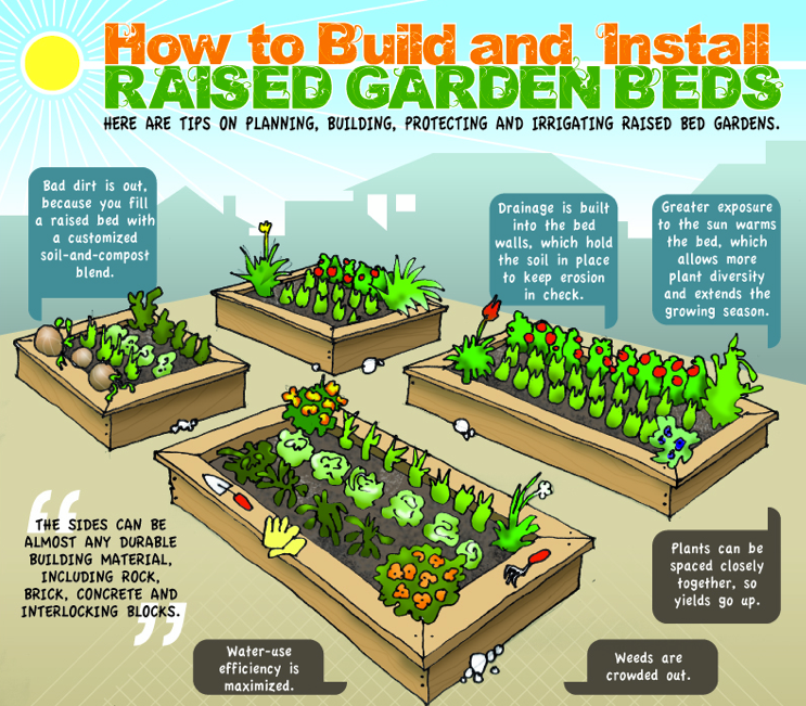 Design Idea Raised Landscaping Beds Build Raised Vegetable Garden
