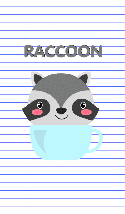Simple Cute Raccoon Theme Vr.2