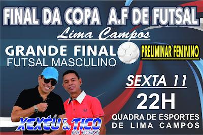 FINAL DA COPA A.F DE FUTSAL LIMA CAMPOS