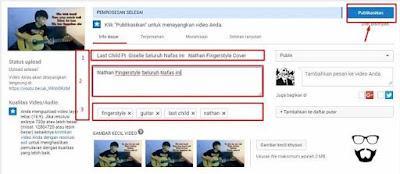 cara upload ke youtube video