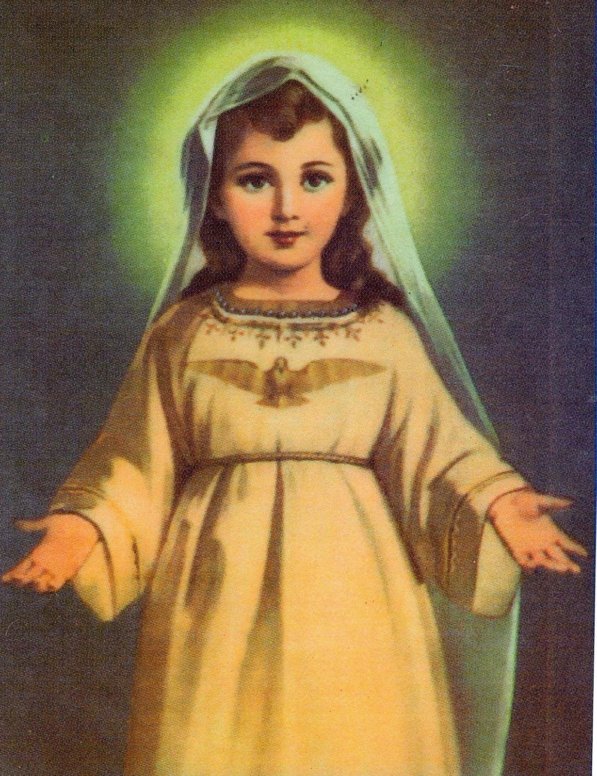Resultado de imagen para virgen niña