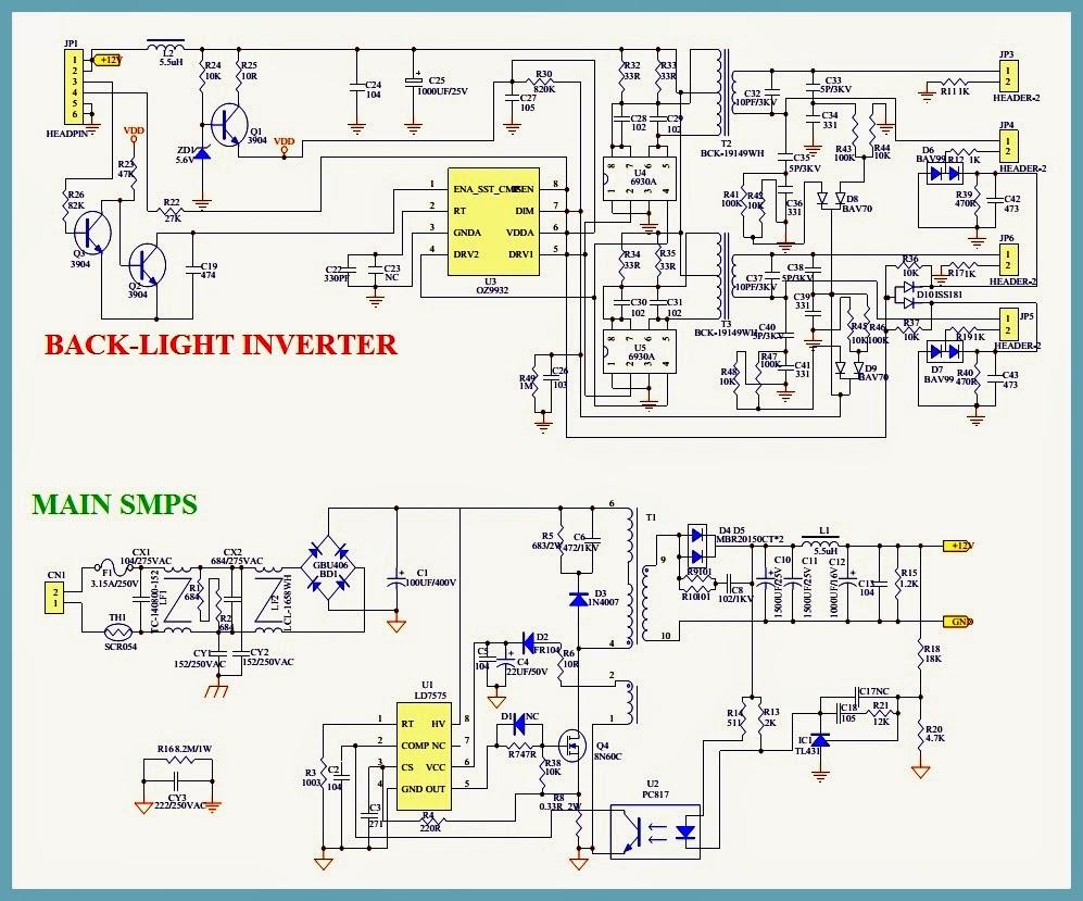 lcd wiring diagram free download schematic detailed wiring diagram free installation television circuit diagram free download [ 997 x 829 Pixel ]