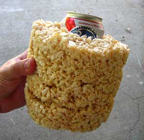Rice Krispy Beer Cozy