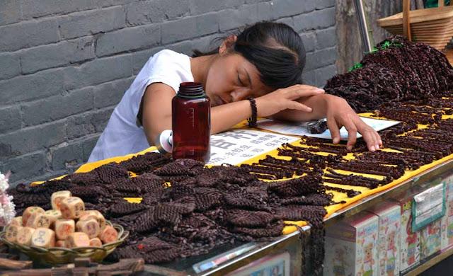 China durmiendo