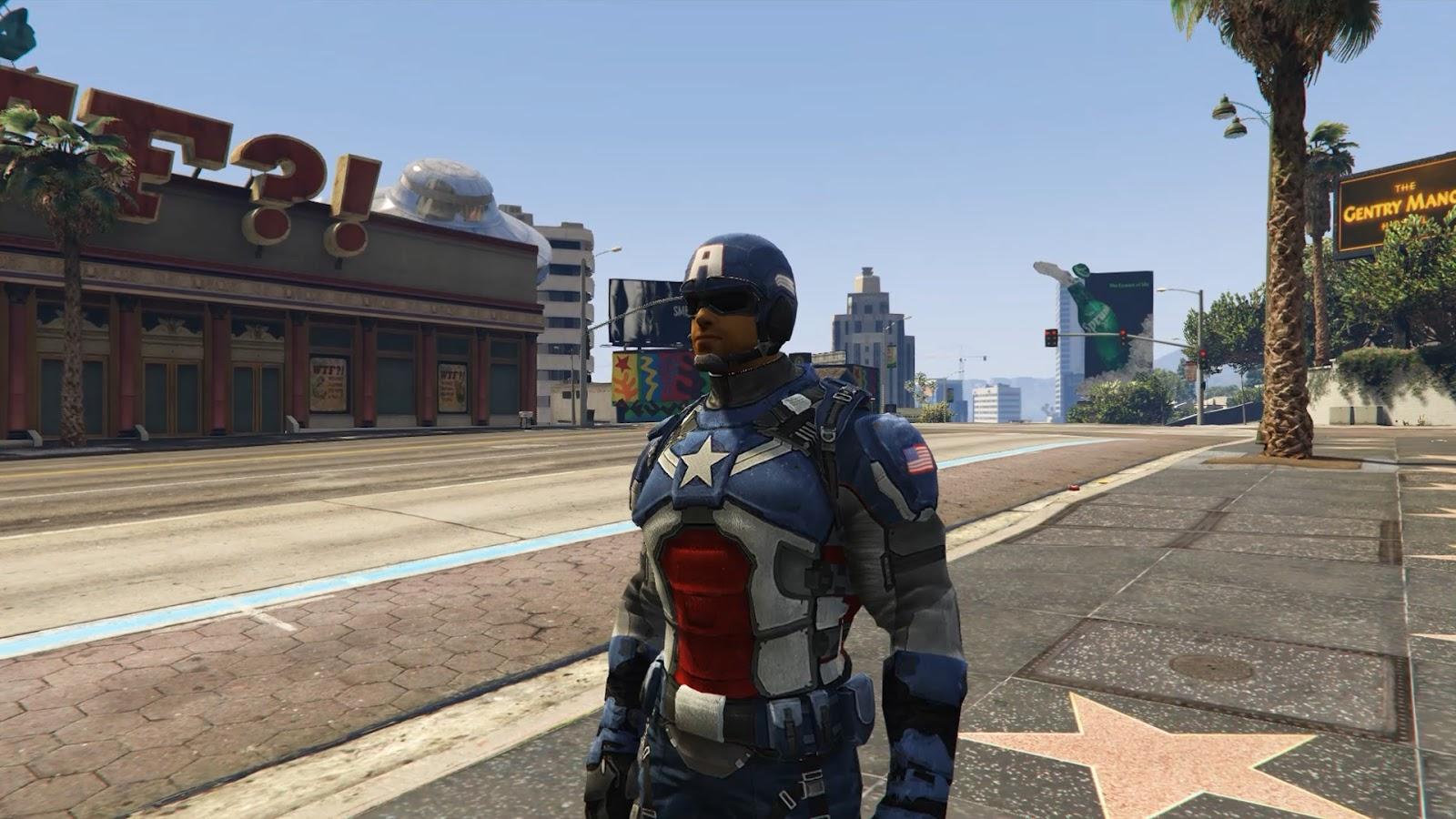GamesMods17 : Captain America Modern Soldier + Shield [Add