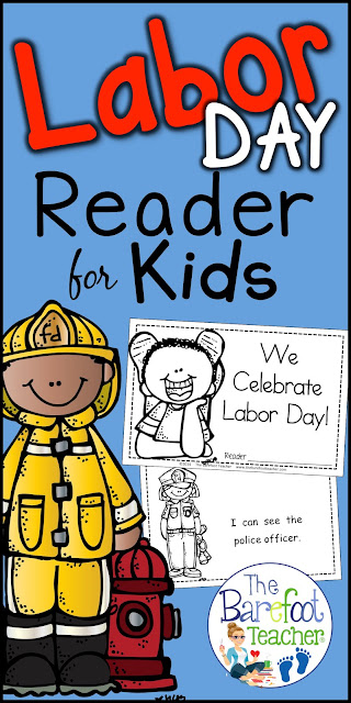 These Labor Day activities for Preschool, Kindergarten, or First Grade students will go right along with the other lessons, arts and crafts that you have planned for your community helpers unit. Lesson plans that will engage your students! #laborday #labordayforkids #labordayactivities #kindergarten #emergentreaders #labordayactivitiesforkids #labordayreader #firstgrade