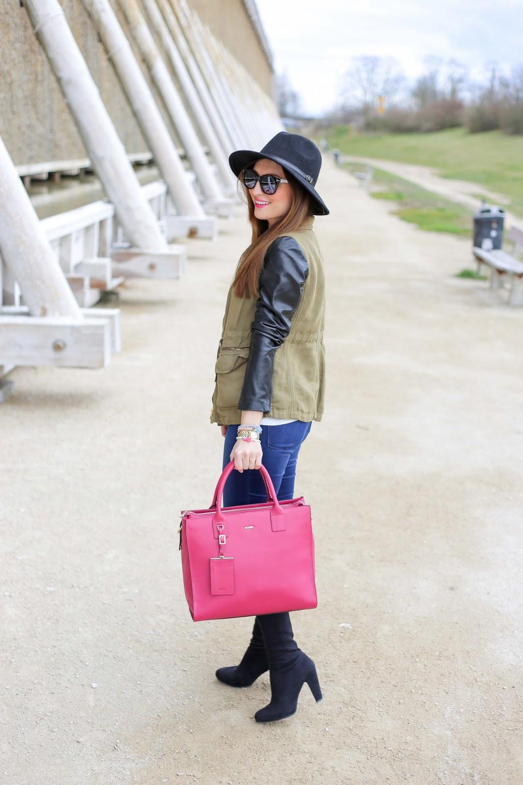 Fashionstylebyjohanna mit pinker Tasche - MIRANDA PICARD - Tasche von Picard - Blogger in Picard - Picard Tasche - Pinke Tasche - Rosa Tasche - Blogger