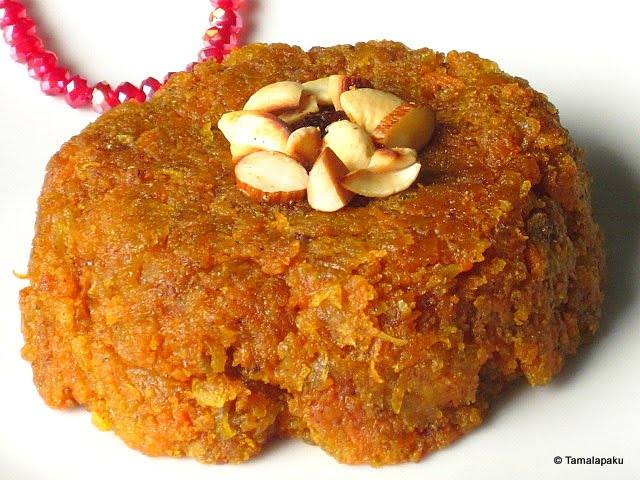 Papaya-Carrot Halwa