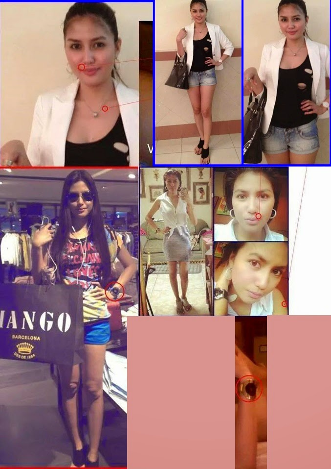 Angel Gutierrez girl in Paolo Bediones scandal - Facebook collage