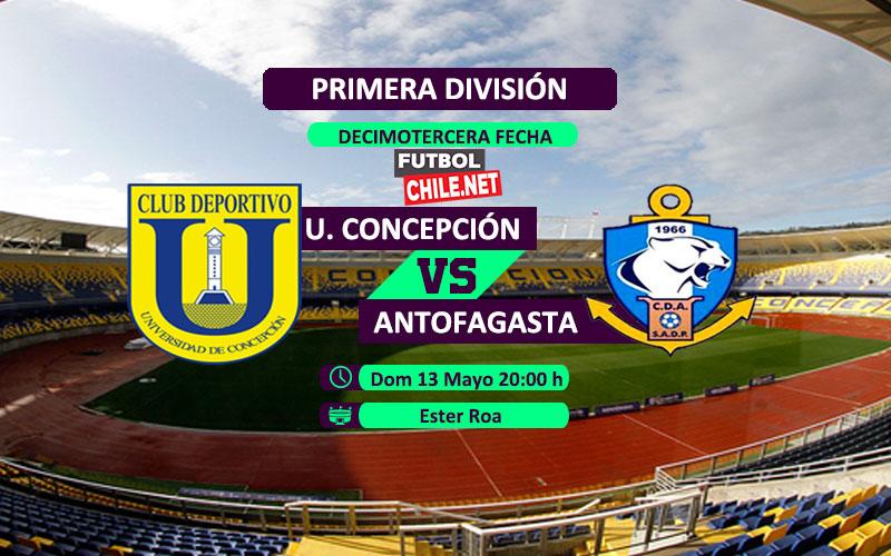 Mira Universidad de Concepción vs Deportes Antofagasta en vivo y online por la Primera División