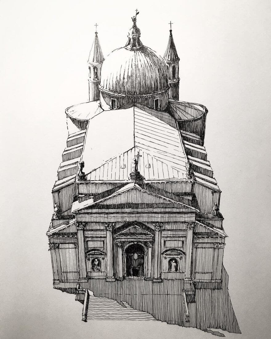 11-Venice -Mark-Poulier-Urban-Sketches-Drawn-on-Site-www-designstack-co