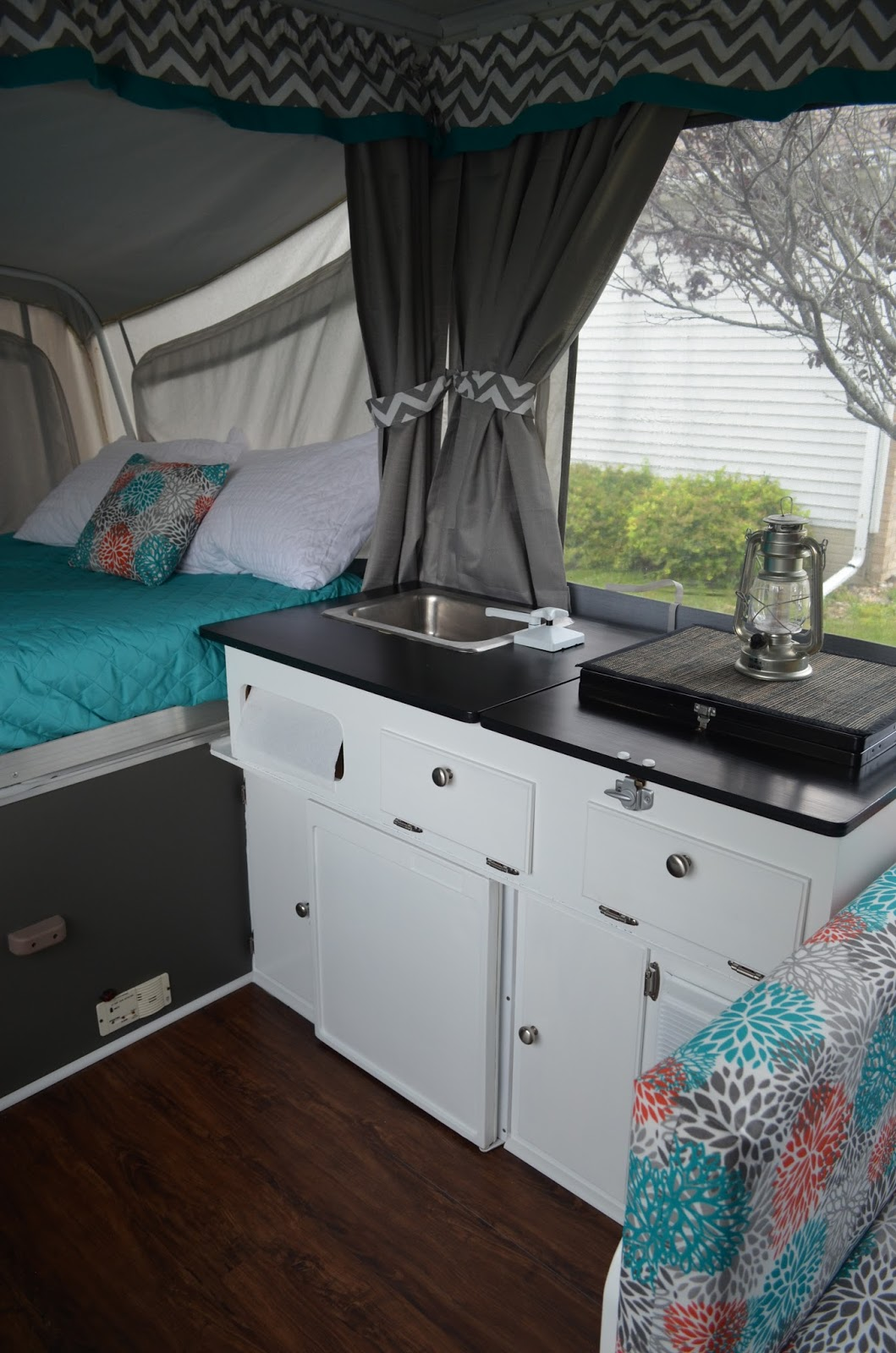 garage window curtain ideas - Pop Up Camper Remodel