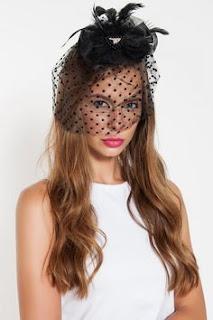 siyah nikah şapkası gelin düğün