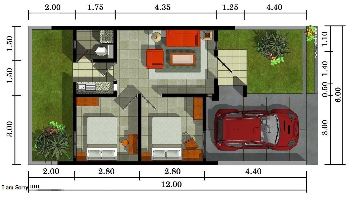 Intip Denah Rumah Type 36 Sebelum Menentukan Yang Terbaik Desain Rumah Minimalis Denah rumah type 36