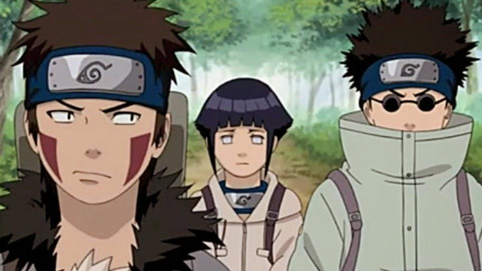 Equipo 8: Kiba, Hinata y Shina