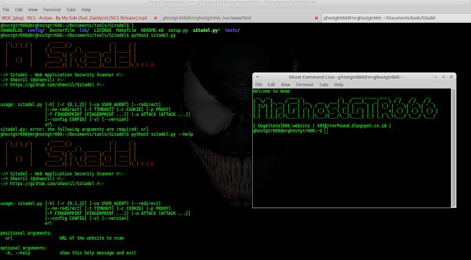 Sitadel - Web Application Security Scanner tested on BackBox 5.3 GNU/Linux