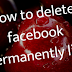 how to delete facebook permanently link