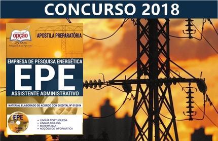 concurso da Empresa de Pesquisa Energética - EPE