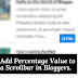How to Add Percentage Value to a Scrollbar in Bloggers.