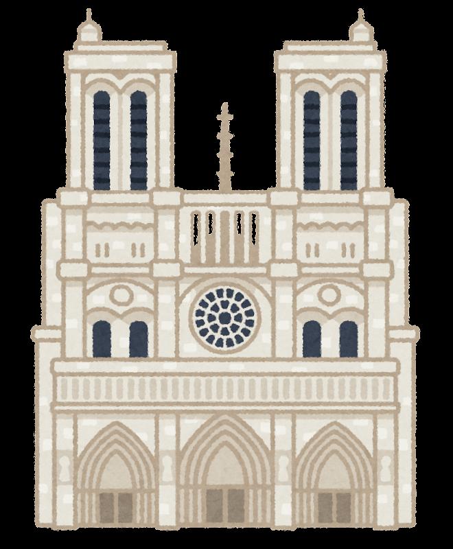 パリのノートルダム大聖堂のイラスト
