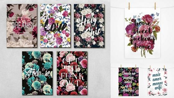 Pôsteres com temas florais