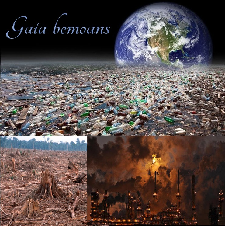 gaia, earth, pollution, devastation