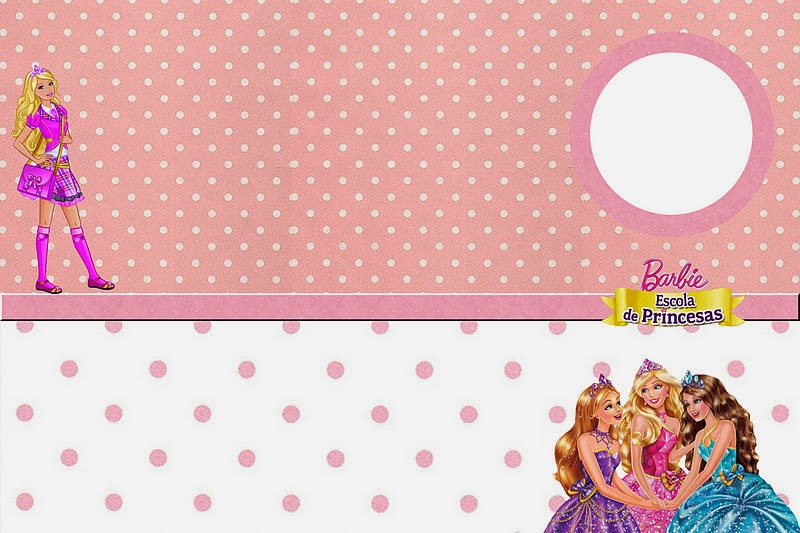 Barbie Princess School Free Printable Invitations, Labels or Cards.