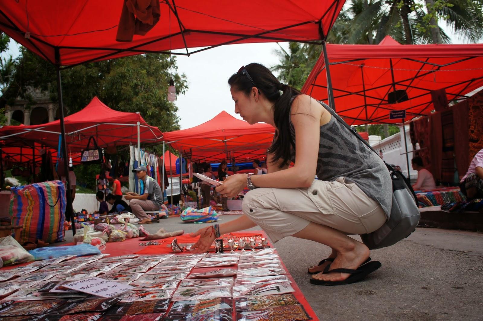 Luang Prabang - Doing some shopping at the night market