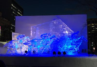 ホッカイドウ競馬の氷像