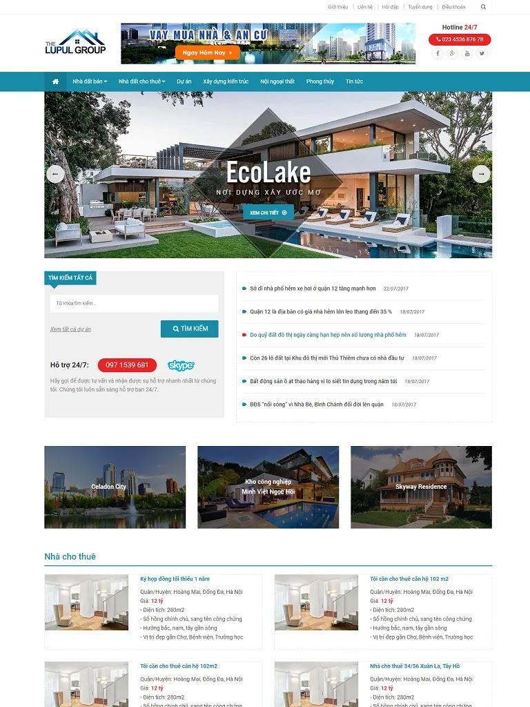 Template blogspot bất động sản nhà đất - Ảnh 1