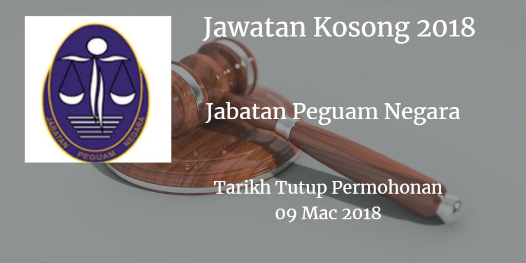 Jawatan Kosong Jabatan Peguam Negara 09 Mac 2018