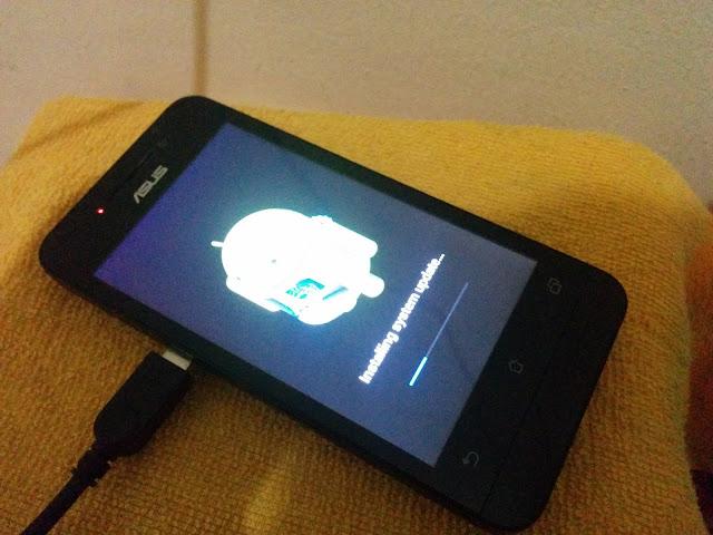 4 langkah praktis update zenfone 4 ke Lollipop untuk pemula