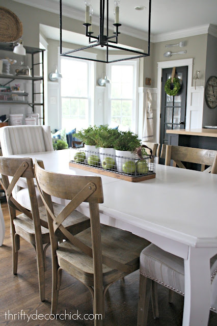 white kitchen table wood chairs