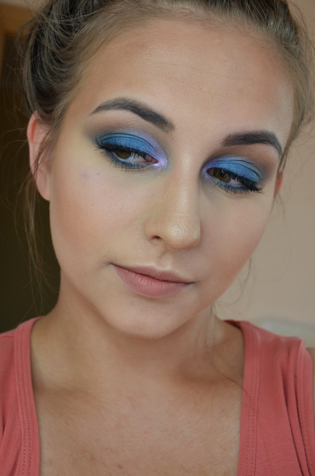 makijaz na niebiesko