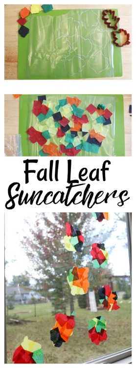 How to Make Fall Leaf Suncatchers