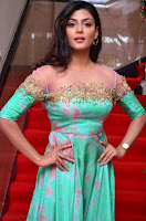Anisha Ambrose sizzles in cute Green Anarkali Dress at Fashion TV F Club Saloon Launch ~  Exclusive 008.JPG