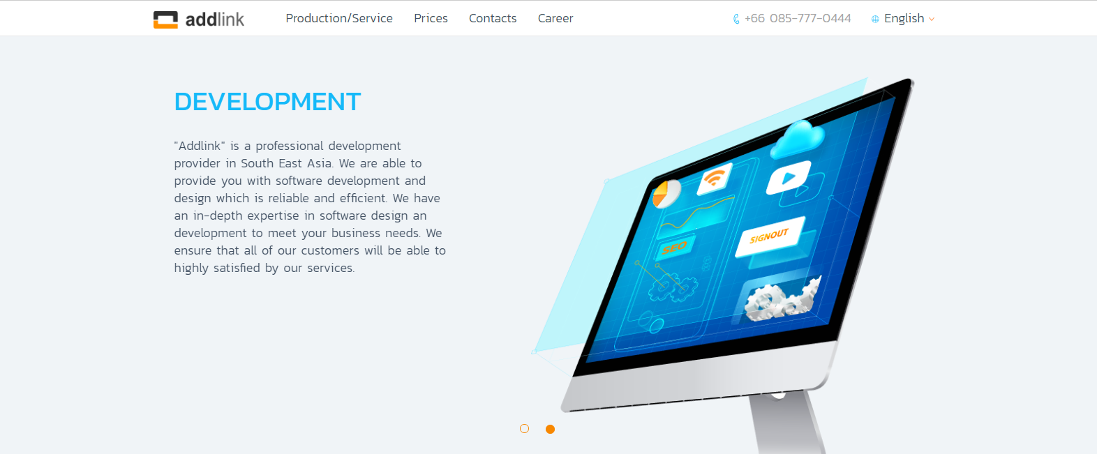 Web Design And Usability Analysis Design Of A Outsource Development Company Website From Se Asia Thailand Personas Usecases Implementation