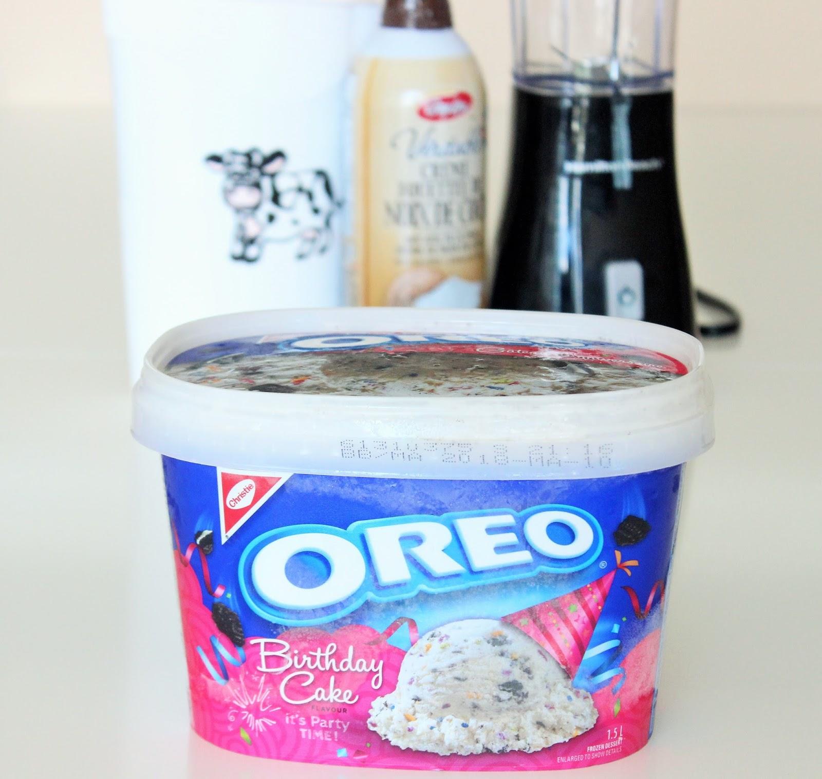 How To Kids Oreo Birthday Cake Milkshake With Coconut Whipped