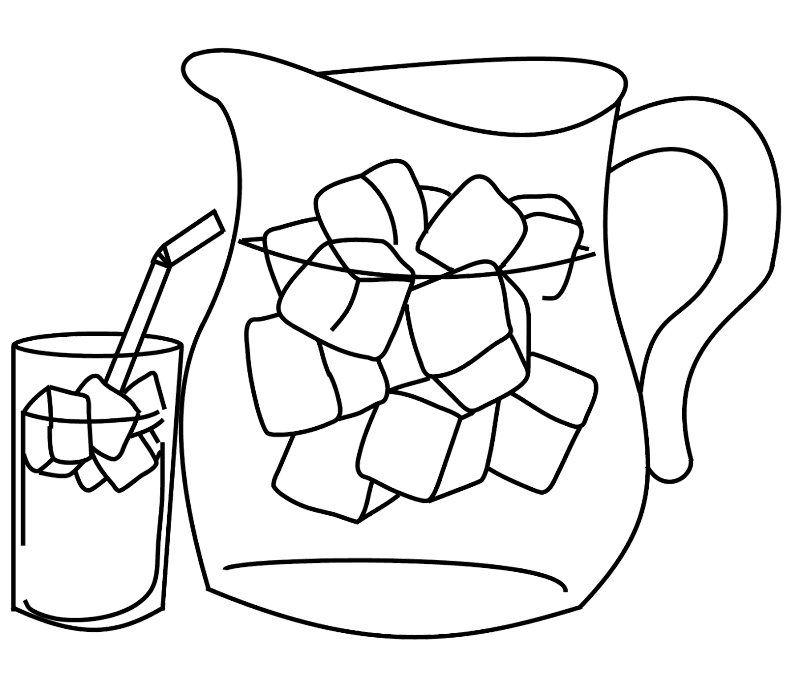Scribbles Designs: #F 34 Pitcher & Drink (Free)