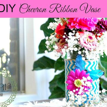 Making Do ~ DIY Chevron Ribbon Vase