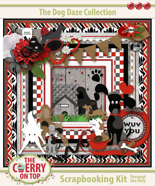 Dog Daze Scrapbooking Kit