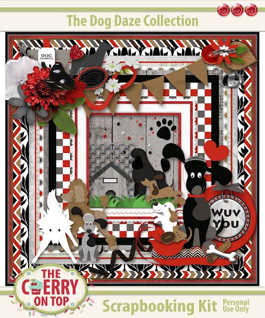 Dog Daze Scrapbooking Kit