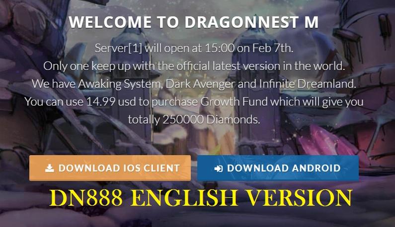 DN888 English Version Dragon Nest Mobile Private Server